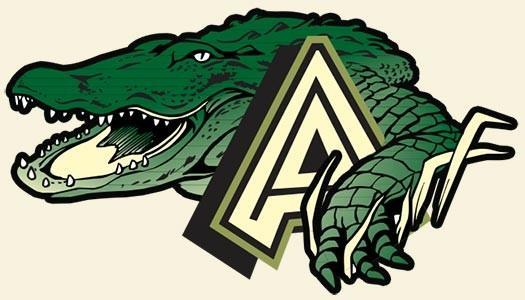 GREEN GATOR ICON WITH A LARGE A
